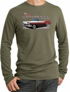 Ford Fairlane 1959 Long Sleeve Thermals - 500 Convertible Adult Shirts
