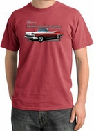 Ford Fairlane 1959 Pigment Dyed T-Shirts - 500 Convertible Tee Shirts