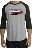 Ford Fairlane 1959 Raglan Shirts - 500 Convertible Adult T-Shirts