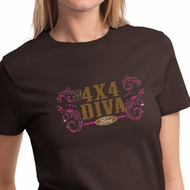 Ford Logo Shirt 4X4 Diva Ladies Tee T-Shirt