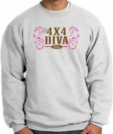Ford Logo Sweatshirts - 4x4 Diva Classic Car Adult Sweat Shirts
