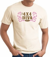 Ford Logo T-Shirts - 4x4 Diva Classic Car Adult Tee Shirts