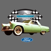 Ford Thunderbird T-shirts - T-Bird Muscle Green Car Adult Tee Shirts