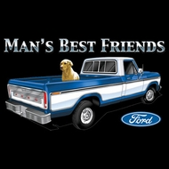 Ford Truck T-shirts Man's Best Friend Adult Shirts