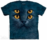 Four Eyed Cat Shirt Tie Dye Adult T-Shirt Tee