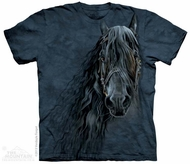 Friesian Portrait Shirt Tie Dye Adult T-Shirt Tee