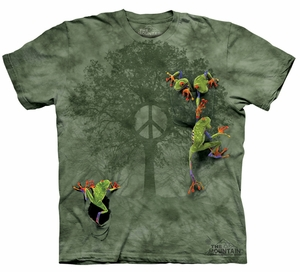 Frog Kids Shirt Tie Dye Peace Tree T-shirt Tee Youth