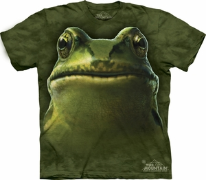 Frog Shirt Tie Dye Bullfrog Head T-shirt Adult Tee