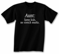 Funny Aunt T-shirt - Black