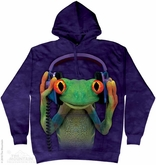 Funny Frog Hoodie Tie Dye Adult Hooded Sweat Shirt Hoody