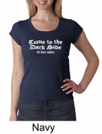 Funny Shirt Come To The Dark Side Ladies Scoop Neck Shirt