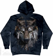 Funny Wolf Hoodie Tie Dye Adult Hooded Sweat Shirt Hoody