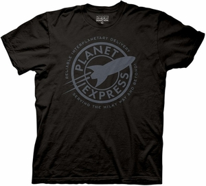 Futurama T-Shirt  Planet Express Adult Black Tee Shirt