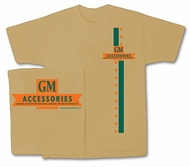 General Motors T-shirt - GM Accessories Vintage Adult Tan Tee Shirt