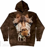 Giraffe Hoodie Tie Dye Adult Hooded Sweat Shirt Hoody