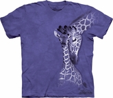 Giraffe Shirt Tie Dye Family T-shirt Adult Tee