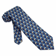Giraffes Navy Blue Silk Tie Necktie - Men's Animal Print Neck Tie