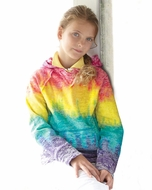 Girls Lightweight Rainbow Hoodie