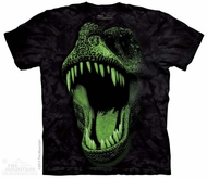 Glowing T-Rex Shirt Tie Dye Adult T-Shirt Tee