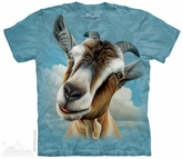 Goat Face Shirt Tie Dye Adult T-Shirt Tee