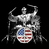 Abe Lincoln Rocks Adult T-shirt - Patriotic Drummer Tee