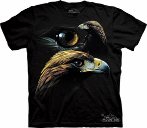 Golden Eagle Shirt Tie Dye Collage T-shirt Adult Tee