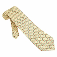 Golf Balls Tees Tie Yellow Silk Necktie � Mens Sports Neck Tie