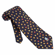 Gone Nuts Blue Silk Tie Necktie - Men's Animal Print Neck Tie