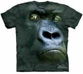 Gorilla Kids Shirt Tie Dye Ape Silverback Portrait T-shirt Tee Youth