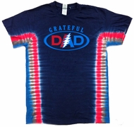 Grateful Dad Mens Tie Dye Tee Shirt