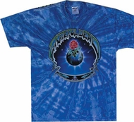 Grateful Dead T-shirt Earth Rose Tie Dye Blue Tee Shirt