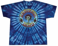 Grateful Dead T-shirt Tie Dye Skull and Roses Adult Shirt Tee