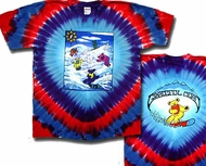 Grateful Dead T-shirt Tie Dye Snow Bears Tee Shirt
