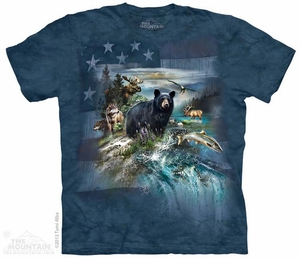 Great American Outdoors Shirt Tie Dye Adult T-Shirt Tee