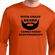 Great Beard Great Responsibility Mens Dry Wicking Long Sleeve Shirt