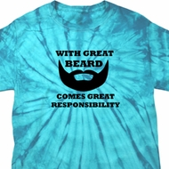 Great Beard Great Responsibility Spider Tie Dye Shirt