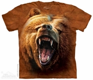 Grizzly Growl Shirt Tie Dye Adult T-Shirt Tee