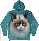 Grumpy Cat Hoodie Tie Dye Adult Hooded Sweat Shirt Hoody