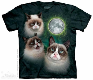 Grumpy Cat Phases Shirt Tie Dye Adult T-Shirt Tee