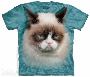 Grumpy Cat Shirt Tie Dye Adult T-Shirt Tee