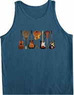 Guitars Instruments Tanktop - Mens Guitarist Musician Adult Tank