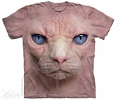 Hairless Cat Shirt Tie Dye Adult T-Shirt Tee