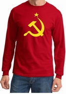 Hammer and Sickle USSR Adult Long Sleeve Shirt - Red