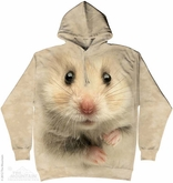 Hamster Face Hoodie Tie Dye Adult Hooded Sweat Shirt Hoody