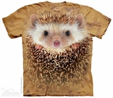 Hedgehog Face Shirt Tie Dye Adult T-Shirt Tee