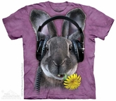 Hip Hop Rabbit Shirt Tie Dye Adult T-Shirt Tee