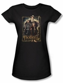 Hobbit Juniors Shirt Movie Unexpected Journey Loyalty Three Black Tee