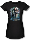 Hobbit Juniors Shirt Movie Unexpected Journey Thorin Oakenshield Tee