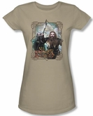 Hobbit Juniors Shirt Movie Unexpected Journey Wrongs Avenged Green Tee