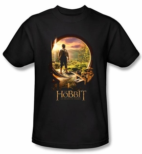 Hobbit Kids Shirt Movie Unexpected Journey Loyalty Door Black Tee